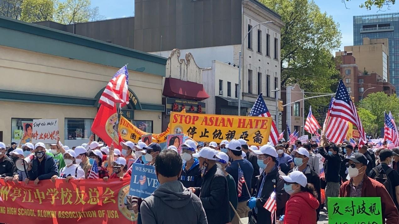 高娓娓:纽约法拉盛反对仇恨亚裔大游行现场实况_图1-16