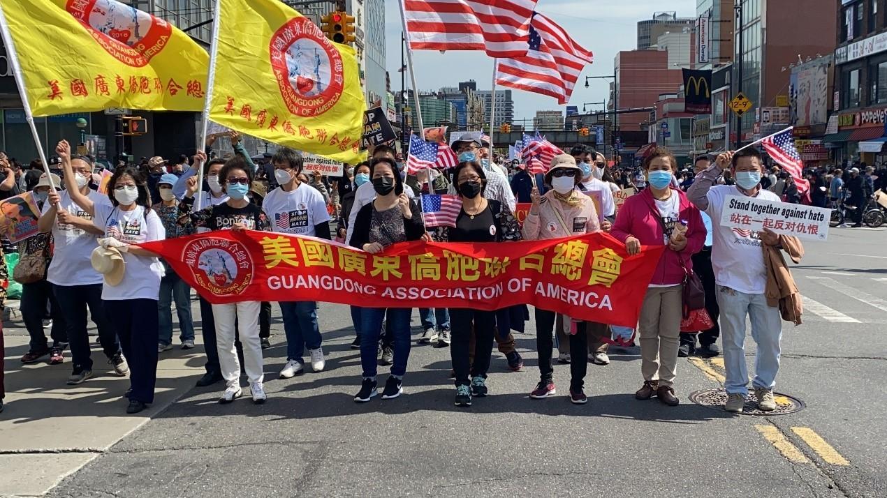 高娓娓:纽约法拉盛反对仇恨亚裔大游行现场实况_图1-29