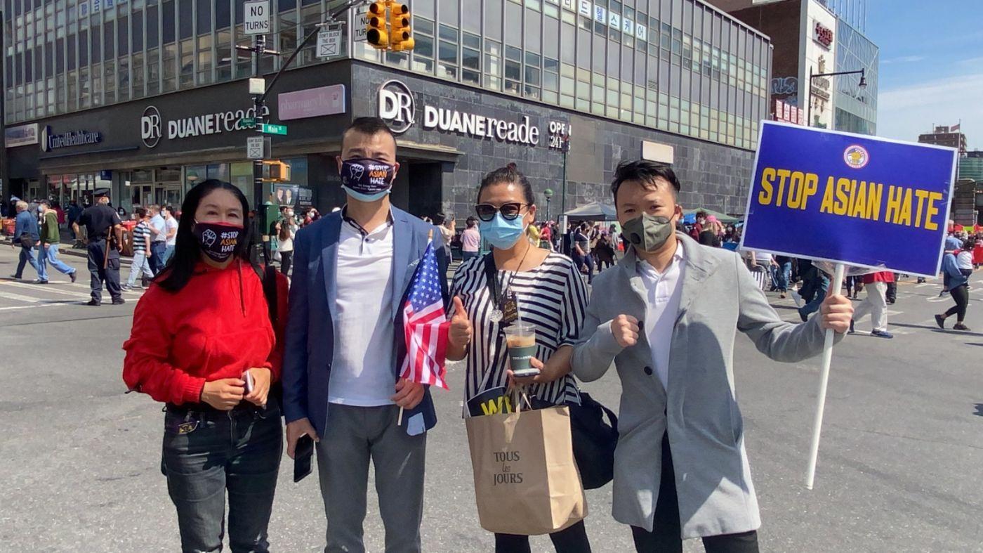 高娓娓:纽约法拉盛反对仇恨亚裔大游行现场实况_图1-25