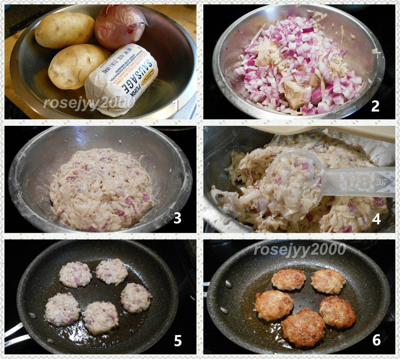 香肠肉土豆饼_图1-3