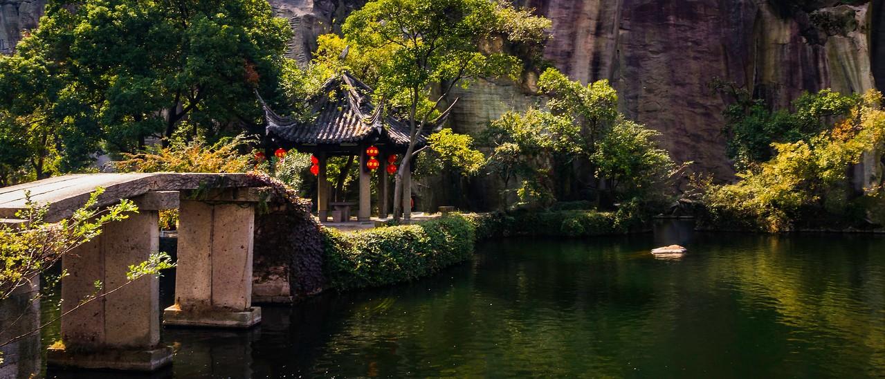 浙江东湖,小桥小船_图1-2