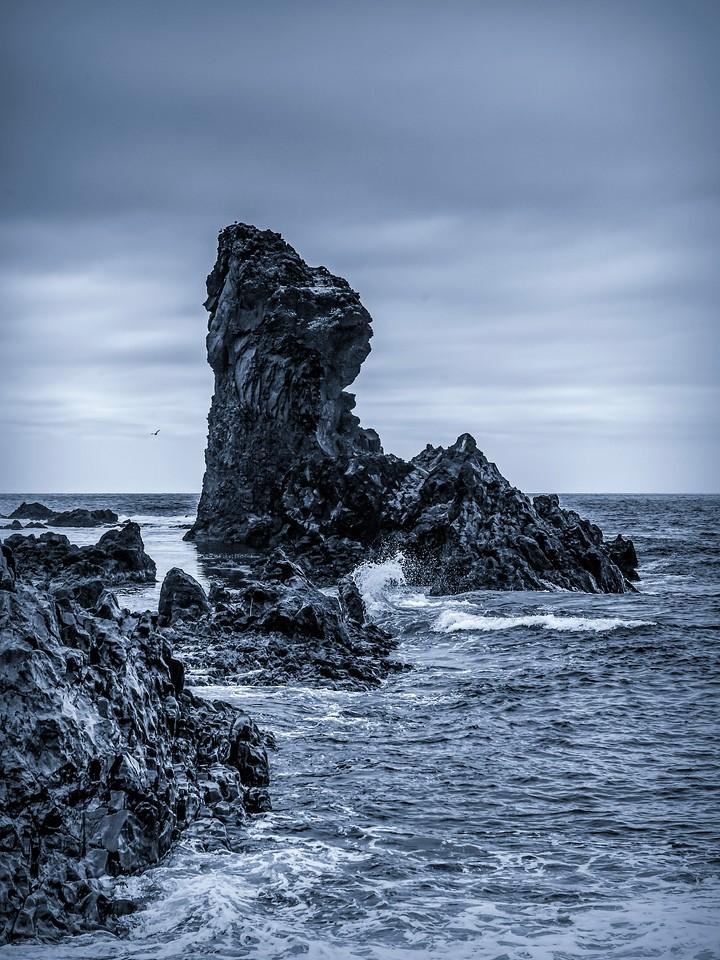 冰岛Djúpalónssandur沙滩,远近礁石_图1-6