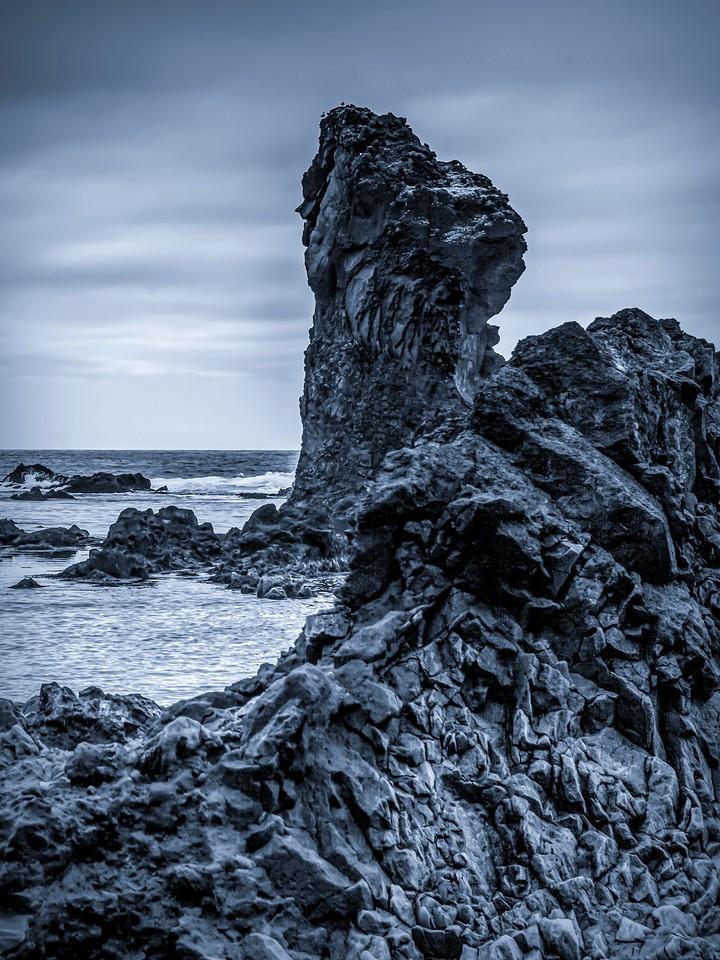 冰岛Djúpalónssandur沙滩,远近礁石_图1-8