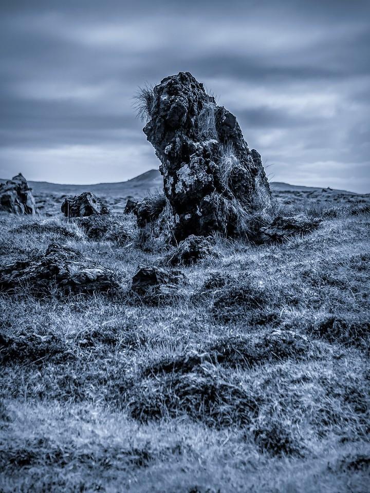 冰岛Djúpalónssandur沙滩,远近礁石_图1-2