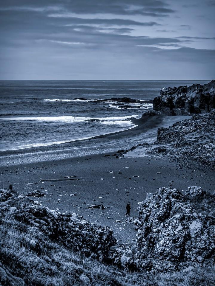 冰岛Djúpalónssandur沙滩,远近礁石_图1-11