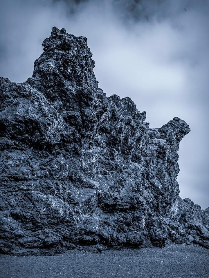 冰岛Djúpalónssandur沙滩,远近礁石_图1-12