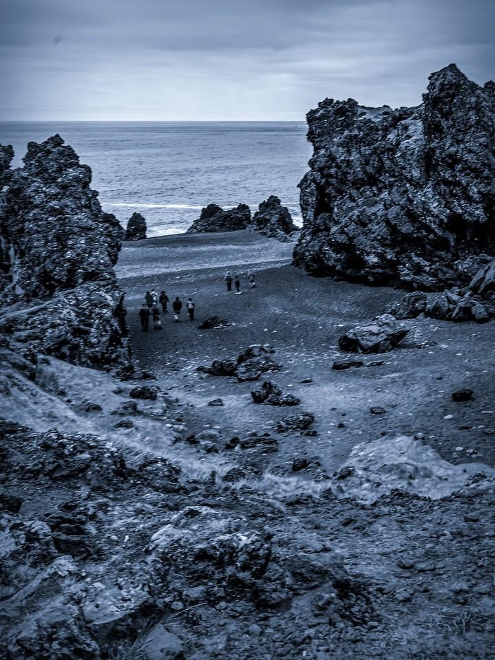 冰岛Djúpalónssandur沙滩,远近礁石_图1-16