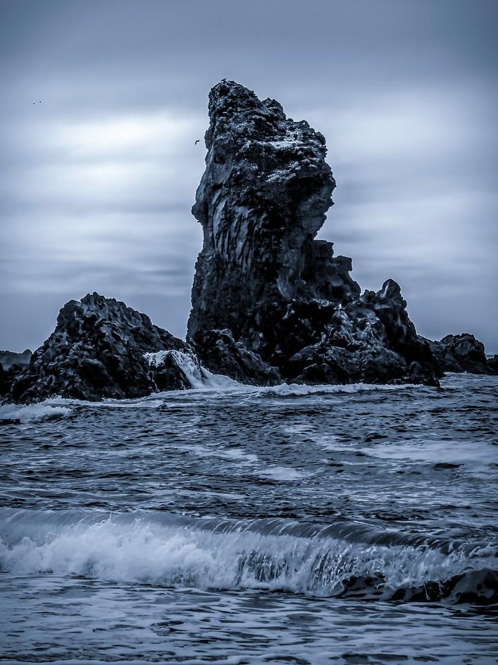 冰岛Djúpalónssandur沙滩,远近礁石_图1-15