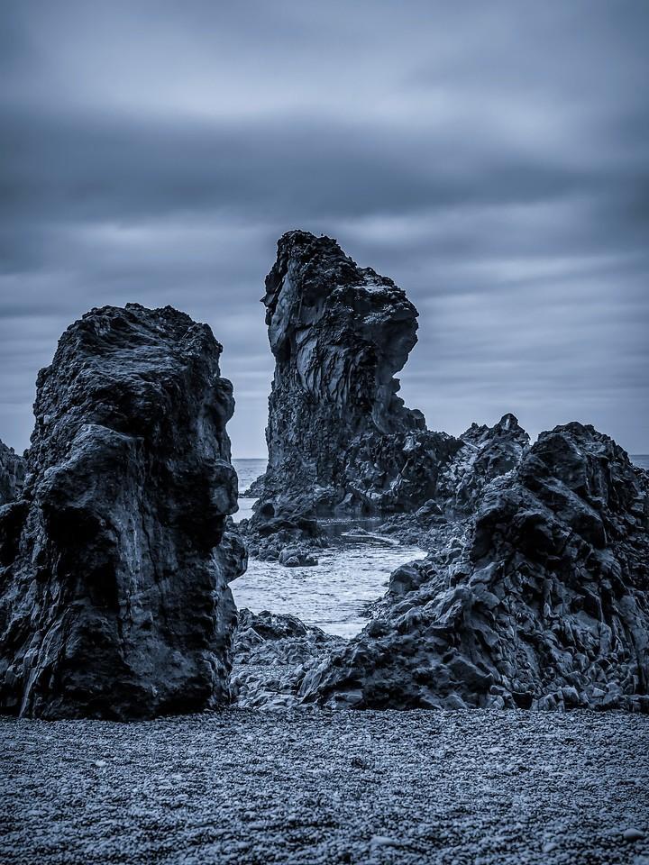 冰岛Djúpalónssandur沙滩,远近礁石_图1-14