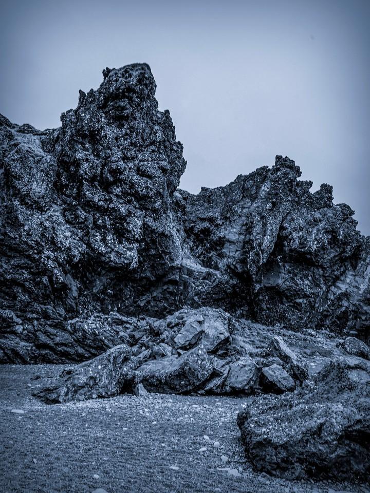 冰岛Djúpalónssandur沙滩,远近礁石_图1-17