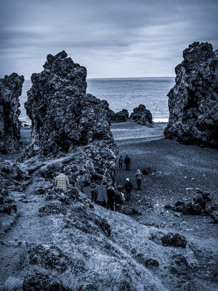 冰岛Djúpalónssandur沙滩,远近礁石_图1-13