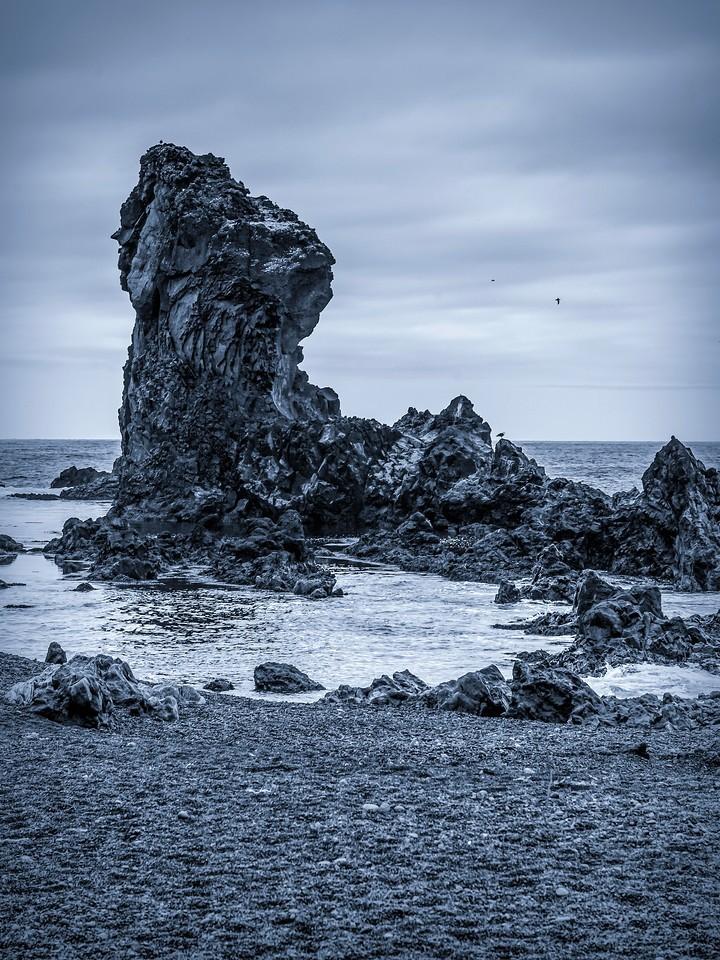 冰岛Djúpalónssandur沙滩,远近礁石_图1-18