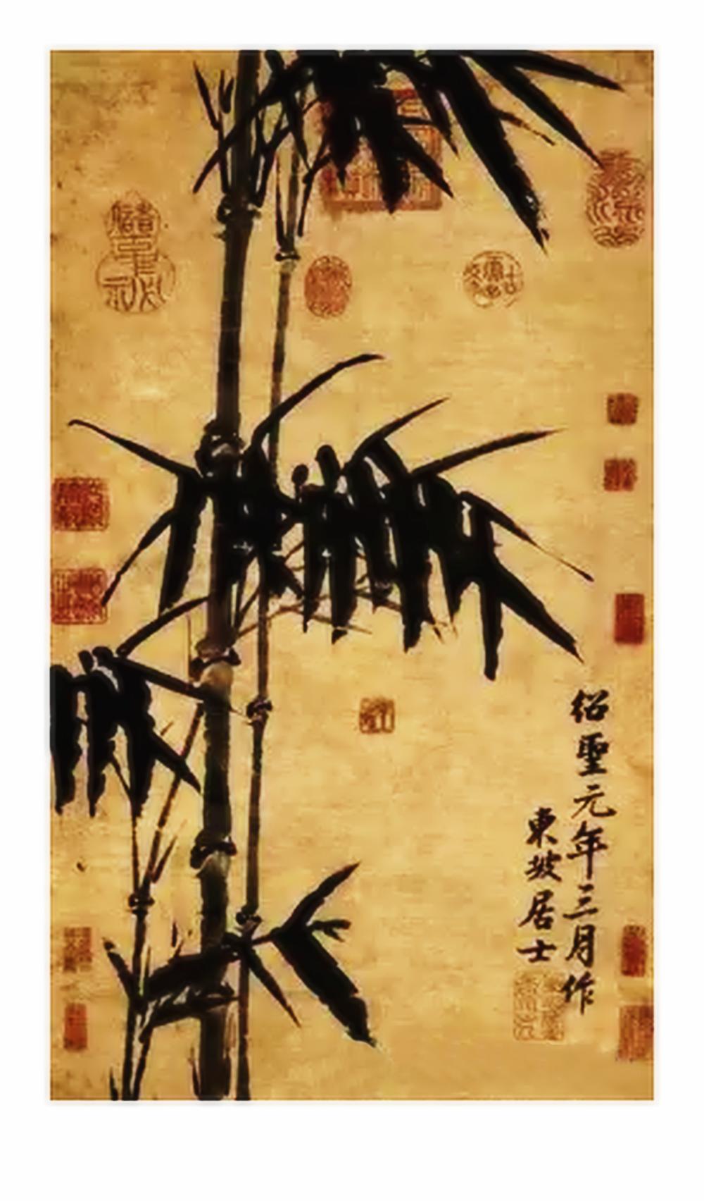 吴梓林的绘画与书法_图1-2