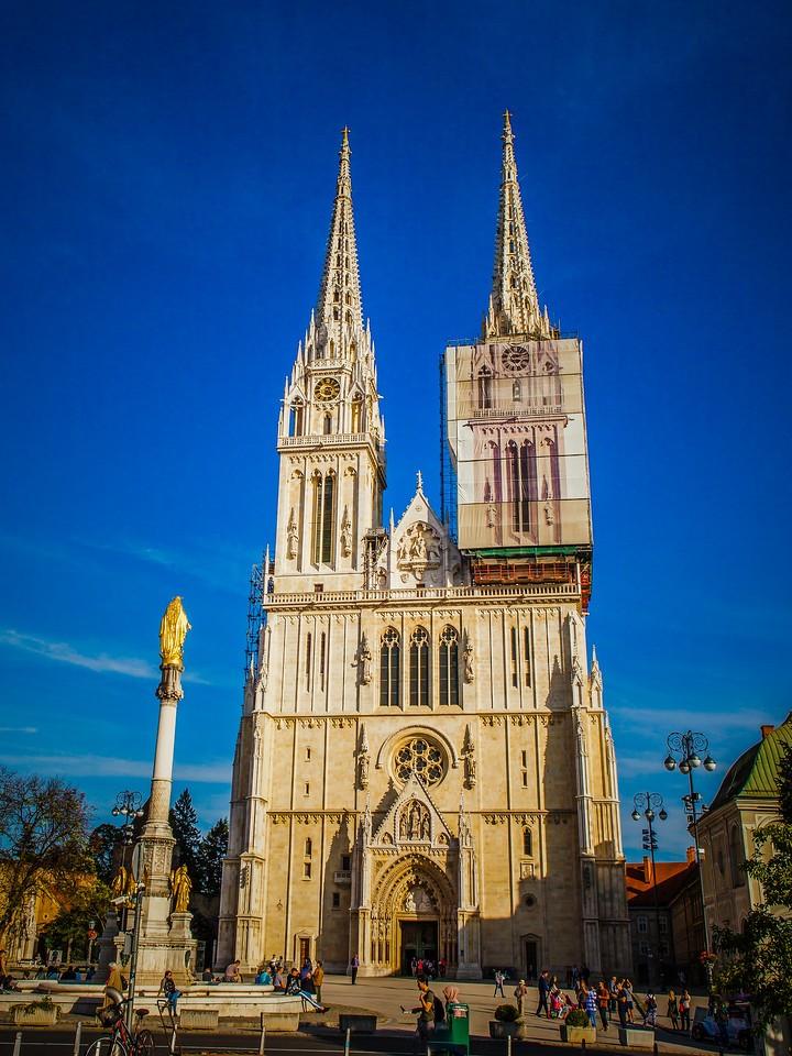 克罗地亚首都萨格勒布(Zagreb),萨格勒布主教座堂_图1-1
