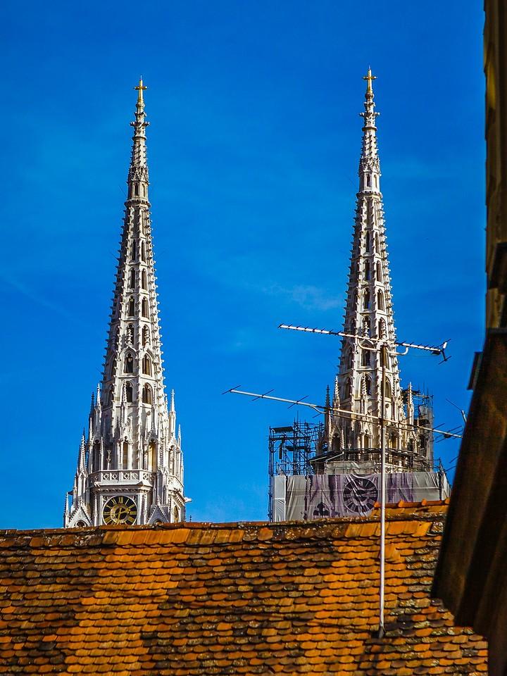 克罗地亚首都萨格勒布(Zagreb),萨格勒布主教座堂_图1-2