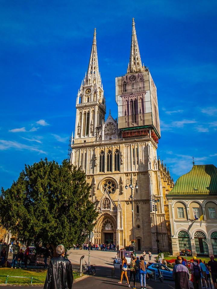克罗地亚首都萨格勒布(Zagreb),萨格勒布主教座堂_图1-6