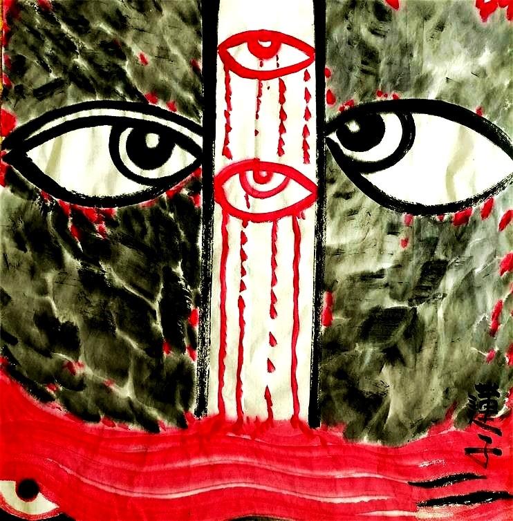 【红色的眼泪】浪漫主义意象画派创始人张炳瑞祥当代艺术作品 ..._图1-1