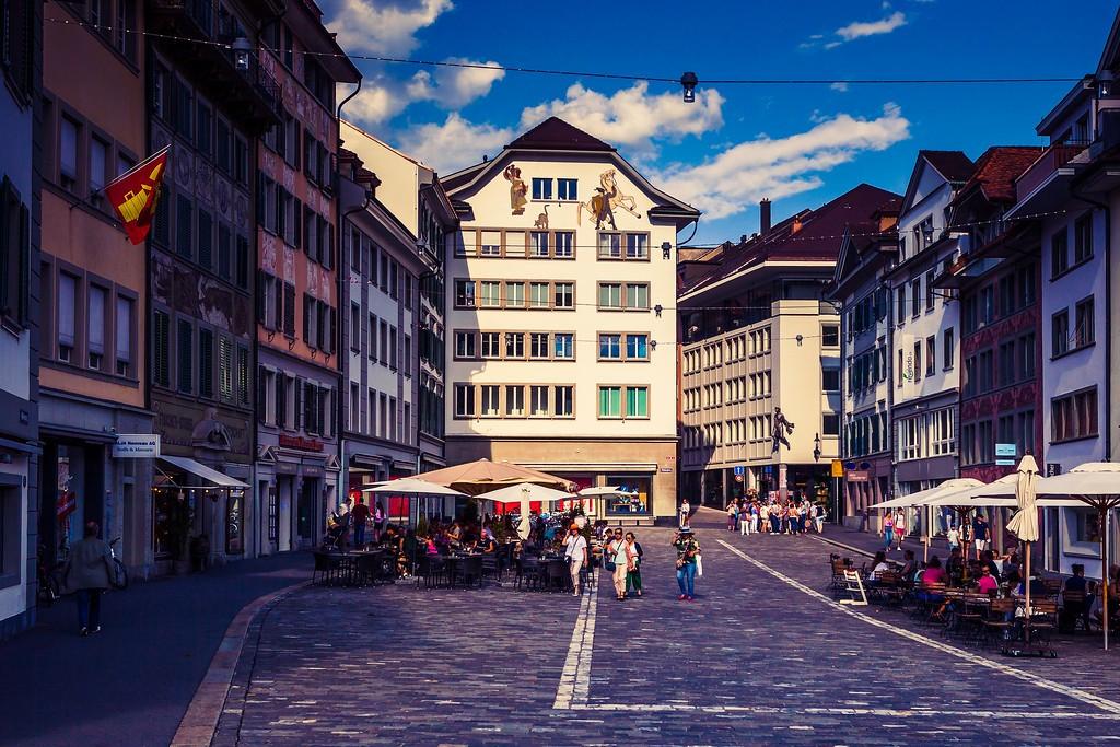 瑞士卢塞恩(Lucerne),街头雕塑_图1-3