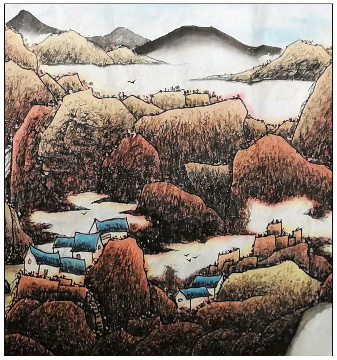 牛志高山水画新作------祝全国的小朋友六一节节日快乐_图1-3