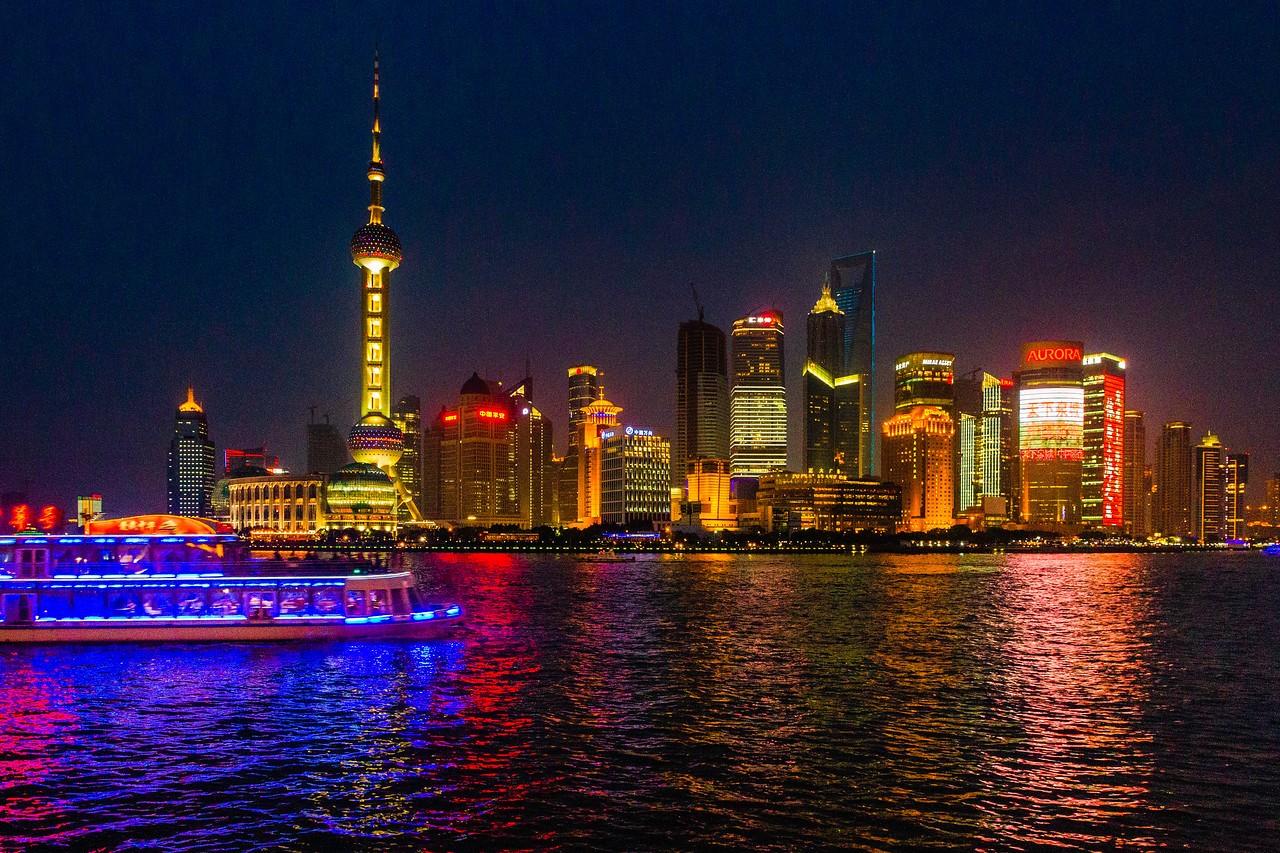 上海外滩,夜幕降临_图1-6