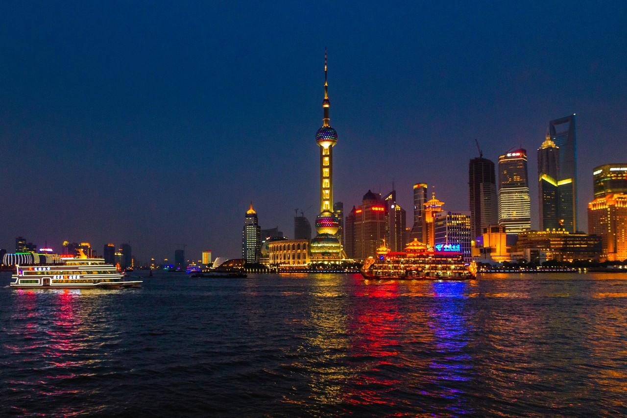 上海外滩,夜幕降临_图1-4