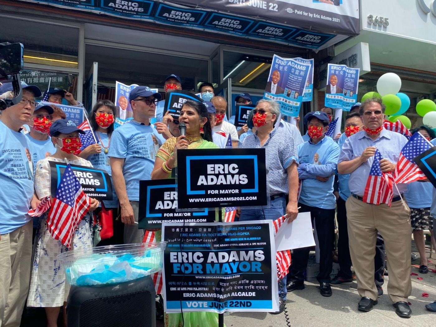 美国V视高娓娓:亚当斯法拉盛竞选办公室启用,全力争取亚裔选票 ..._图1-7