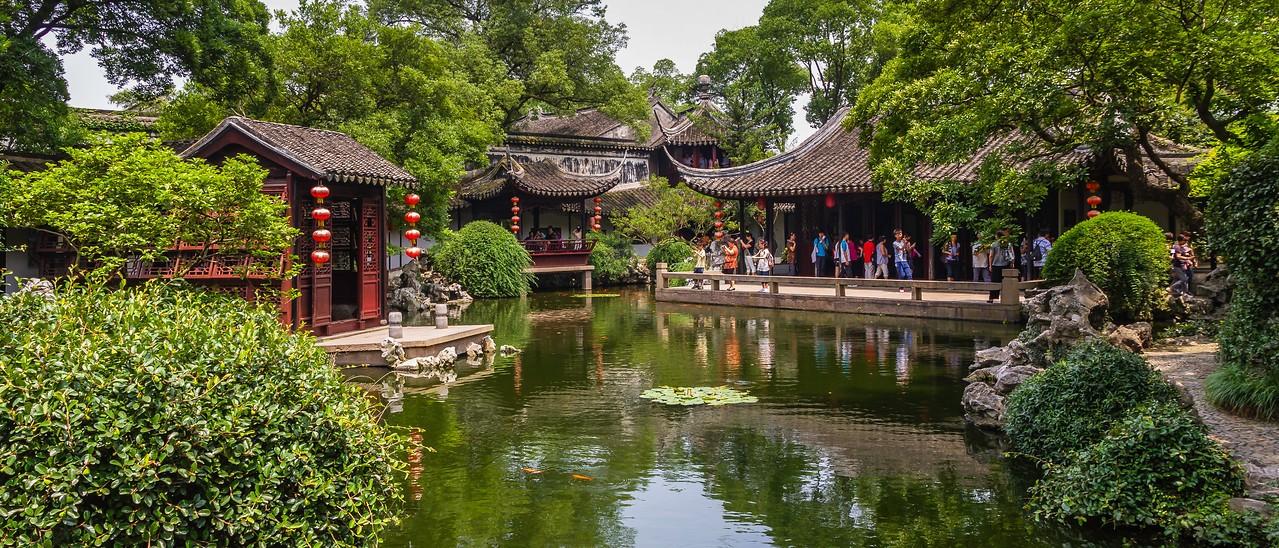 中国江苏同里,水上石桥_图1-7