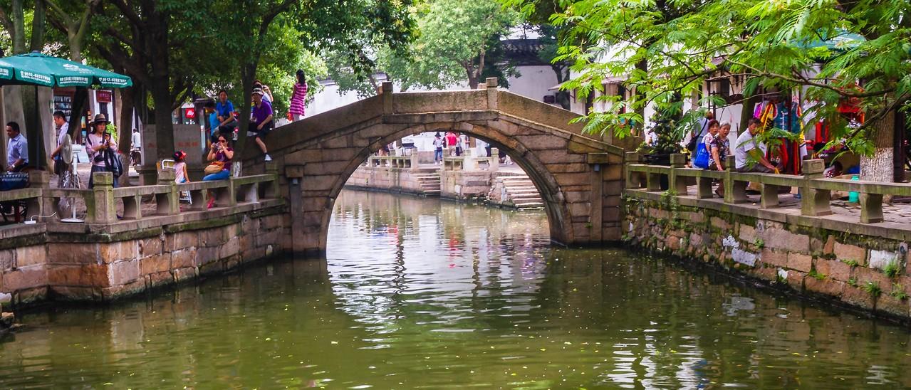 中国江苏同里,水上石桥_图1-5