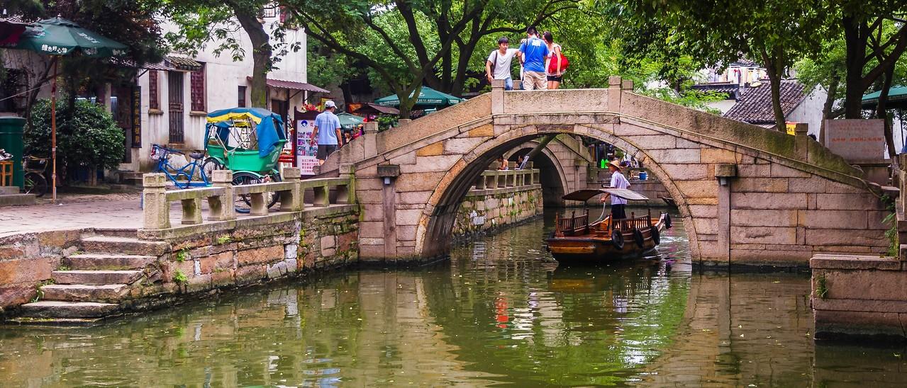 中国江苏同里,水上石桥_图1-9