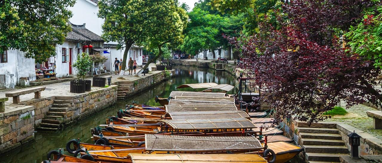中国江苏同里,水上石桥_图1-8