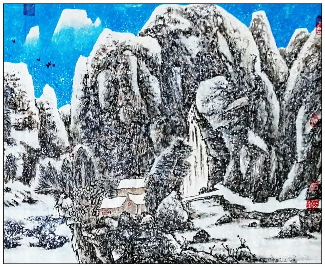 牛志高山水画-----为建党100周年献礼---2021.06.19_图1-3