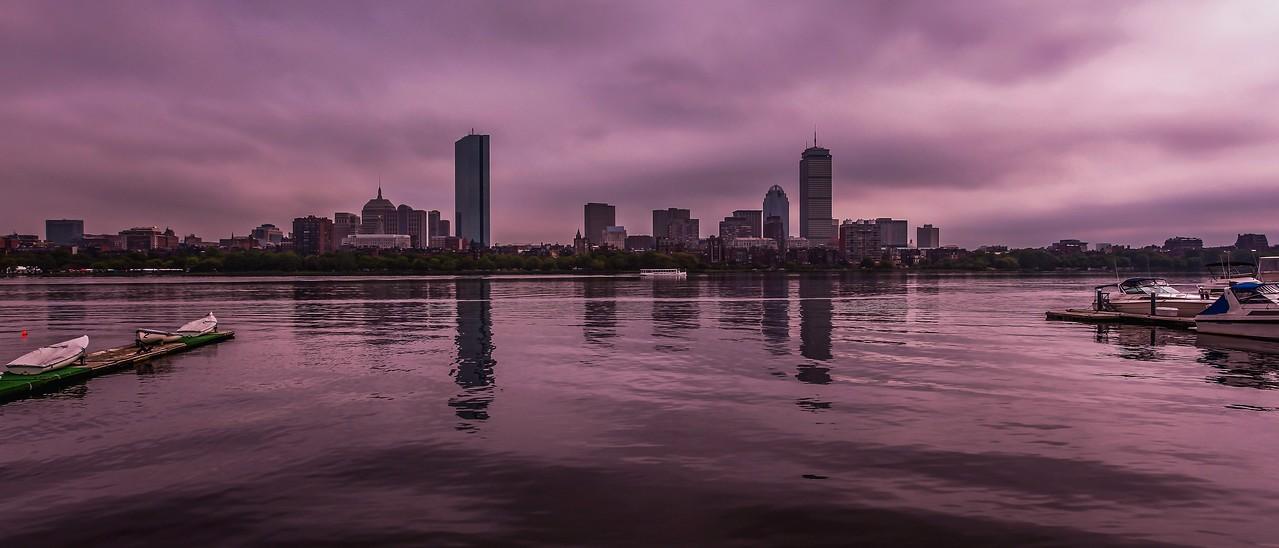 美国波士顿,城市河景_图1-1