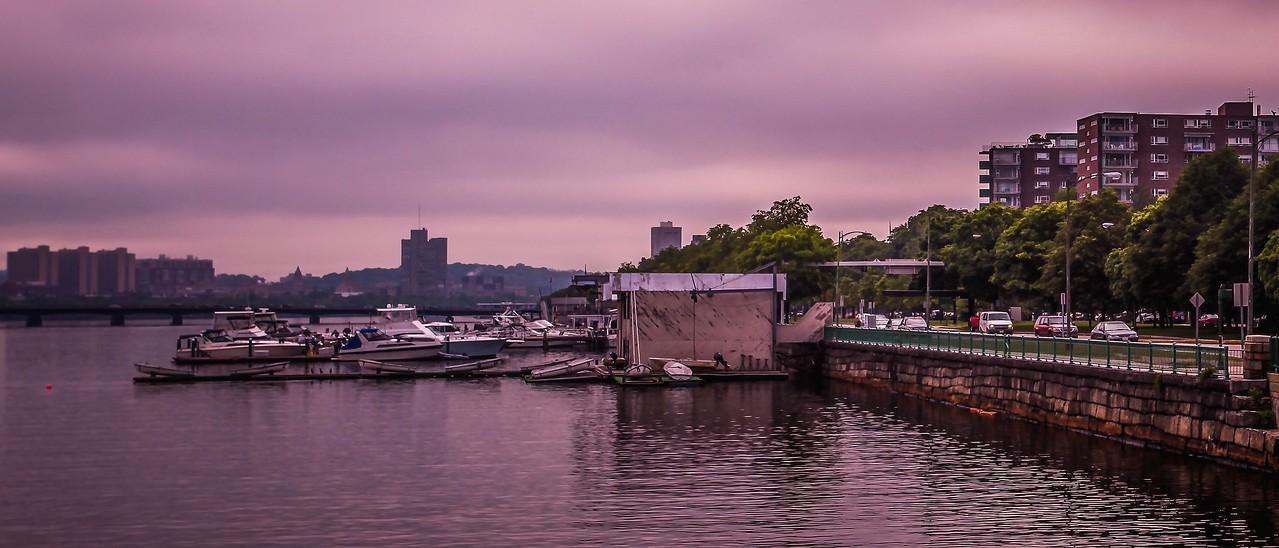 美国波士顿,城市河景_图1-3