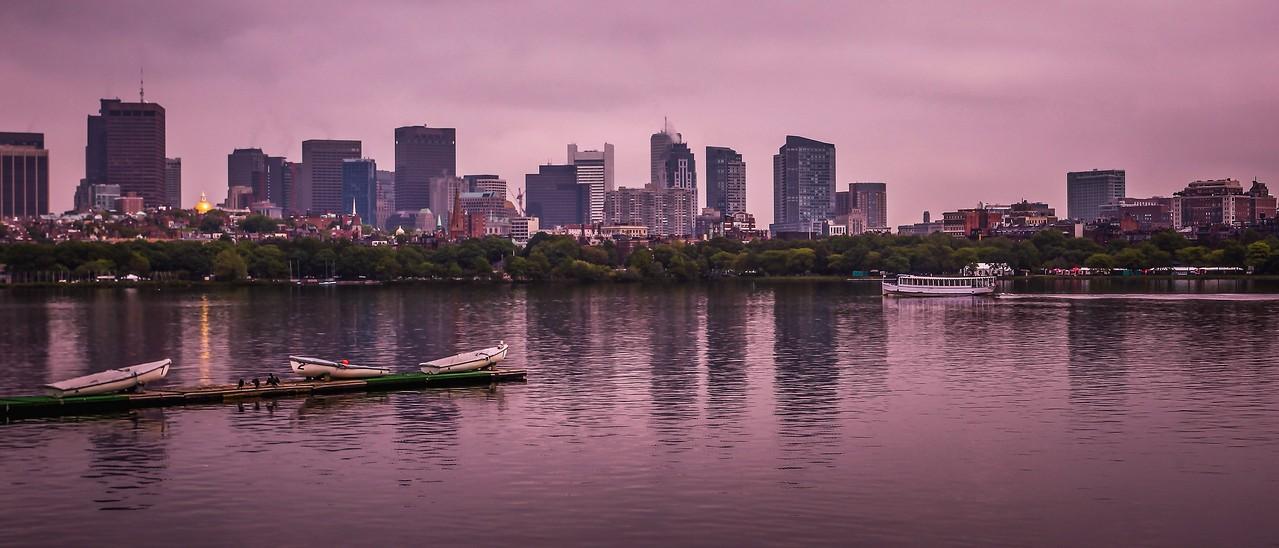 美国波士顿,城市河景_图1-4