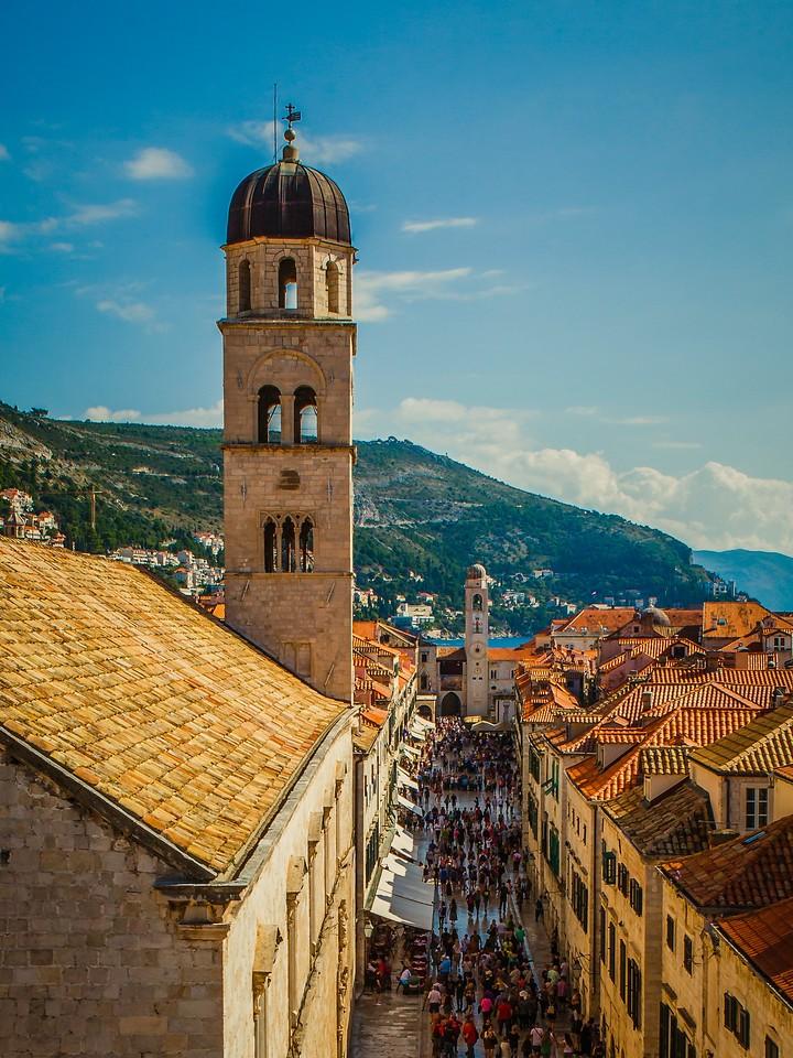 克罗地亚杜布罗夫尼克(Dubrovnik),城中高塔_图1-1