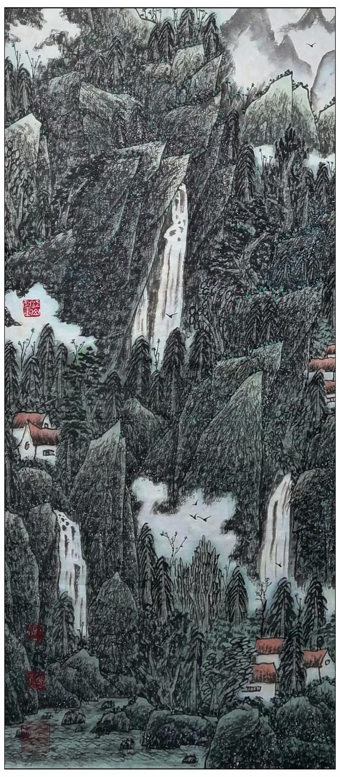 牛志高山水画-----2021.06.28_图1-2