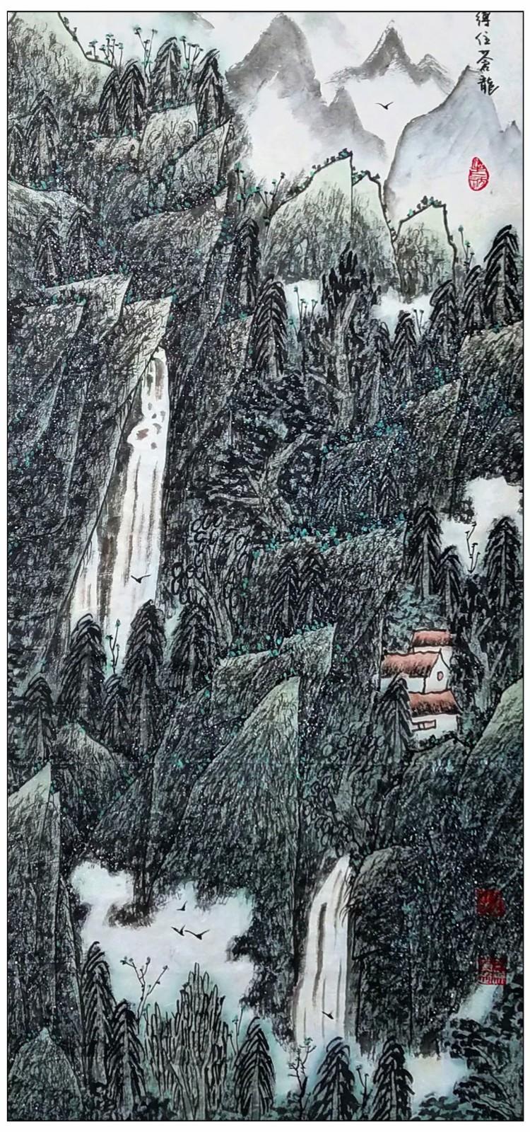 牛志高山水画-----2021.06.28_图1-1
