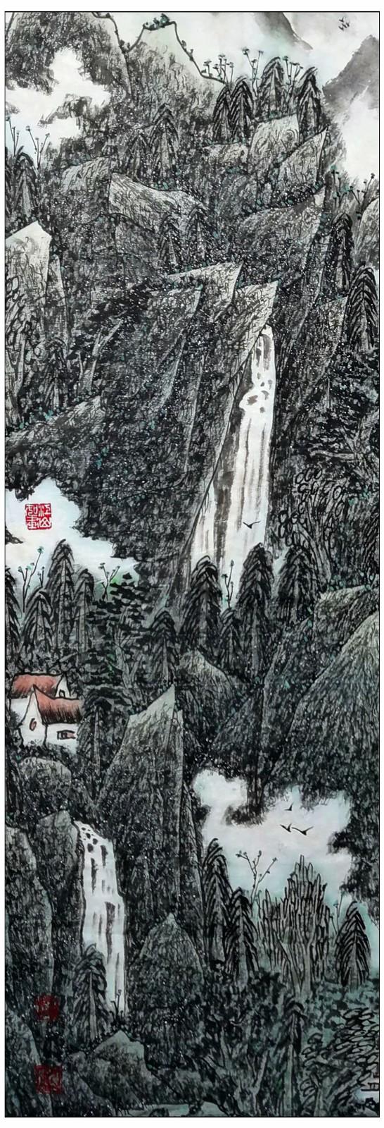 牛志高山水画-----2021.06.28_图1-3