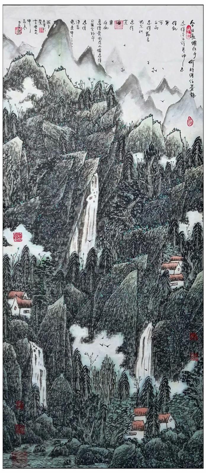 牛志高山水画-----2021.06.28_图1-4