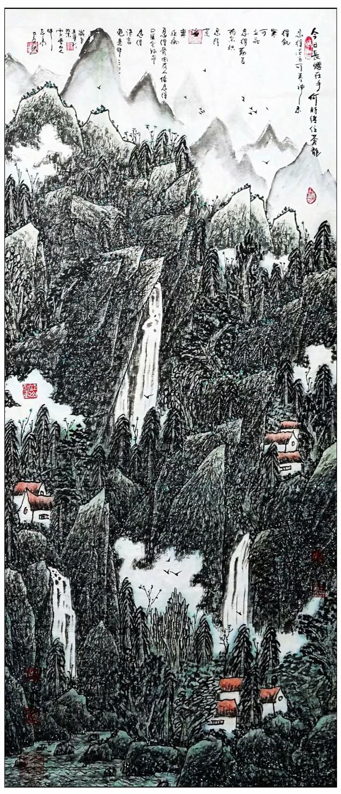 牛志高山水画-----2021.06.28_图1-5