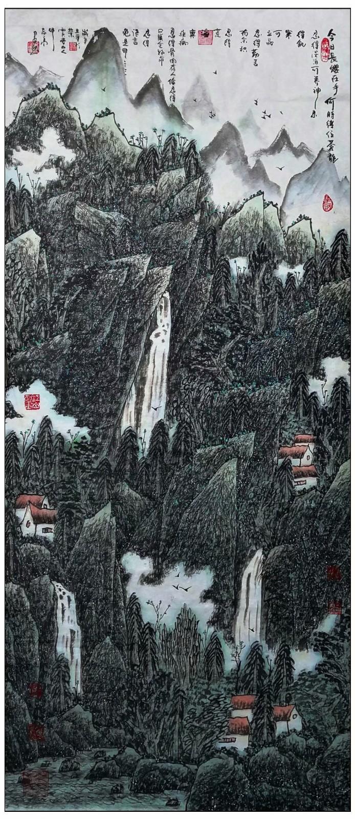 牛志高山水画-----2021.06.28_图1-7
