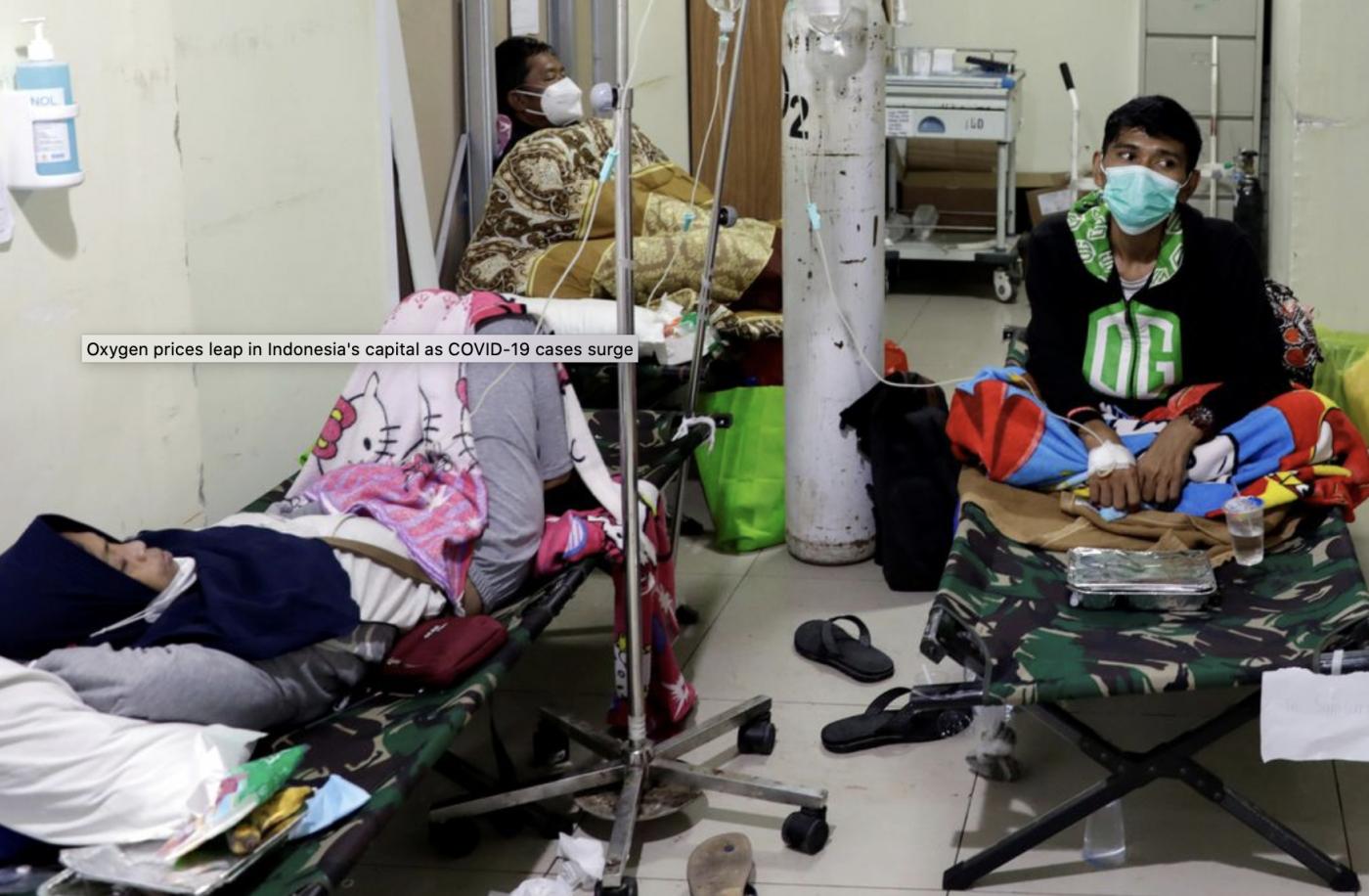 印度的新冠疫情惨状如今在印尼重现_图1-4
