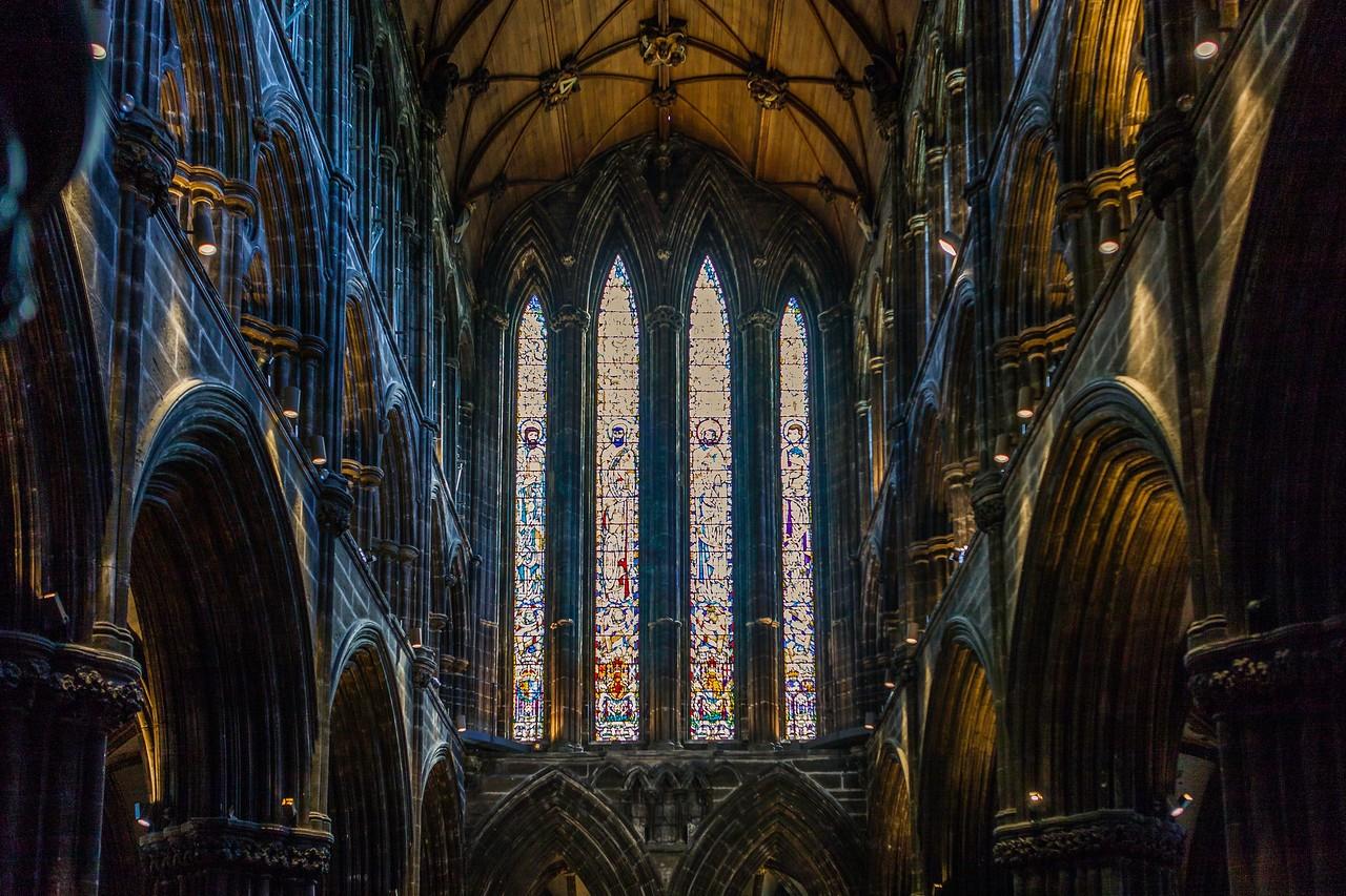 苏格兰格拉斯哥大教堂,细细欣赏_图1-2