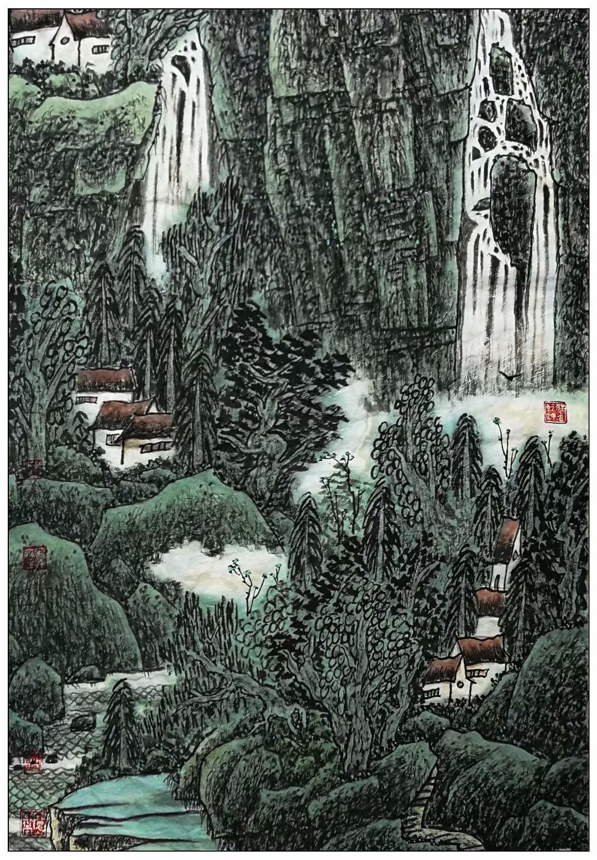 牛志高山水画2021.07.05_图1-8