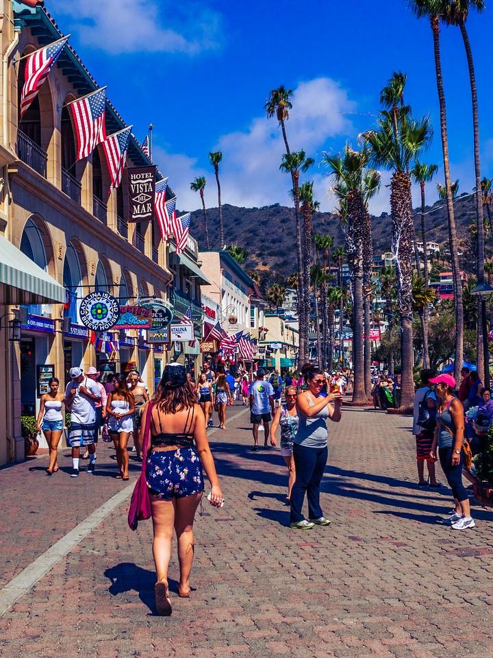 加州圣卡塔利娜岛(Santa Catalina Island),小岛街景_图1-1