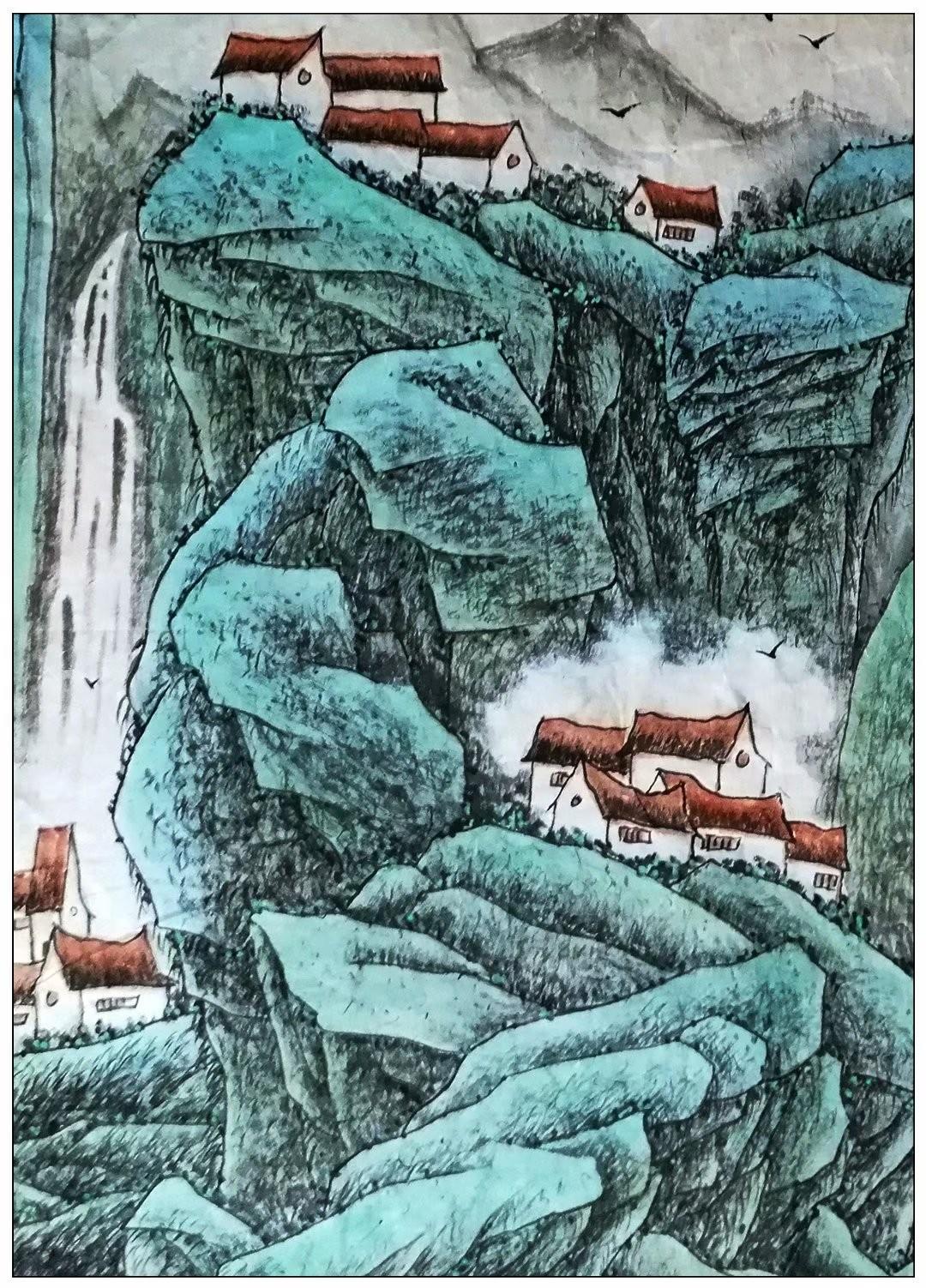 牛志高山水画_图1-2