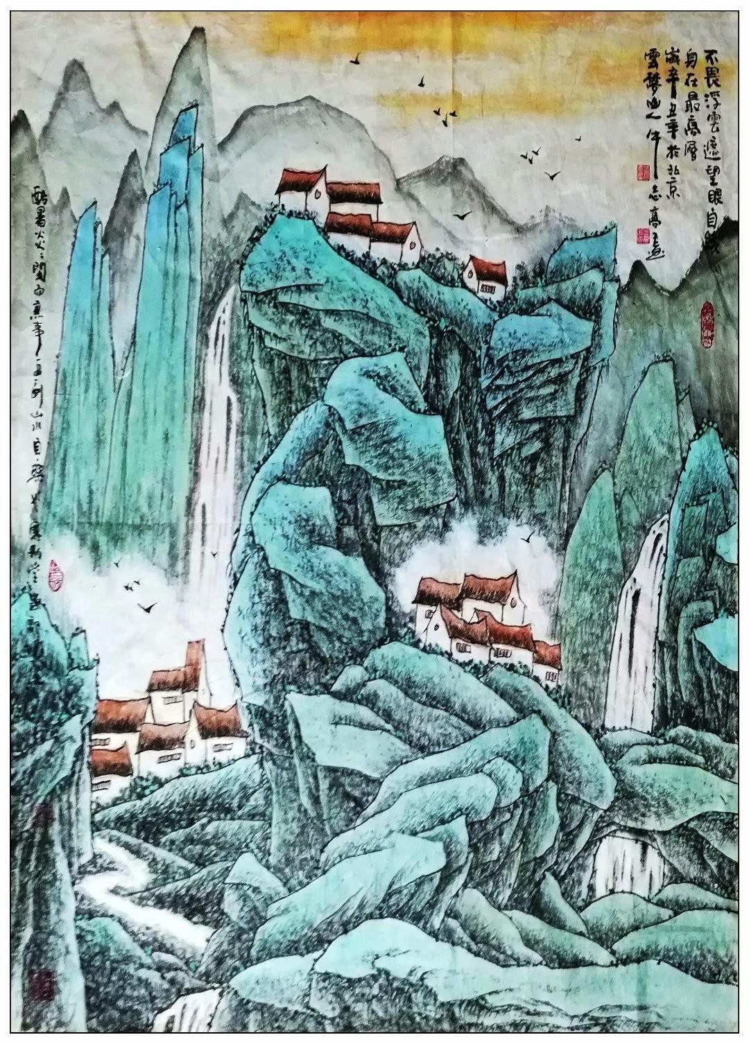 牛志高山水画新作2021.07.13_图1-2