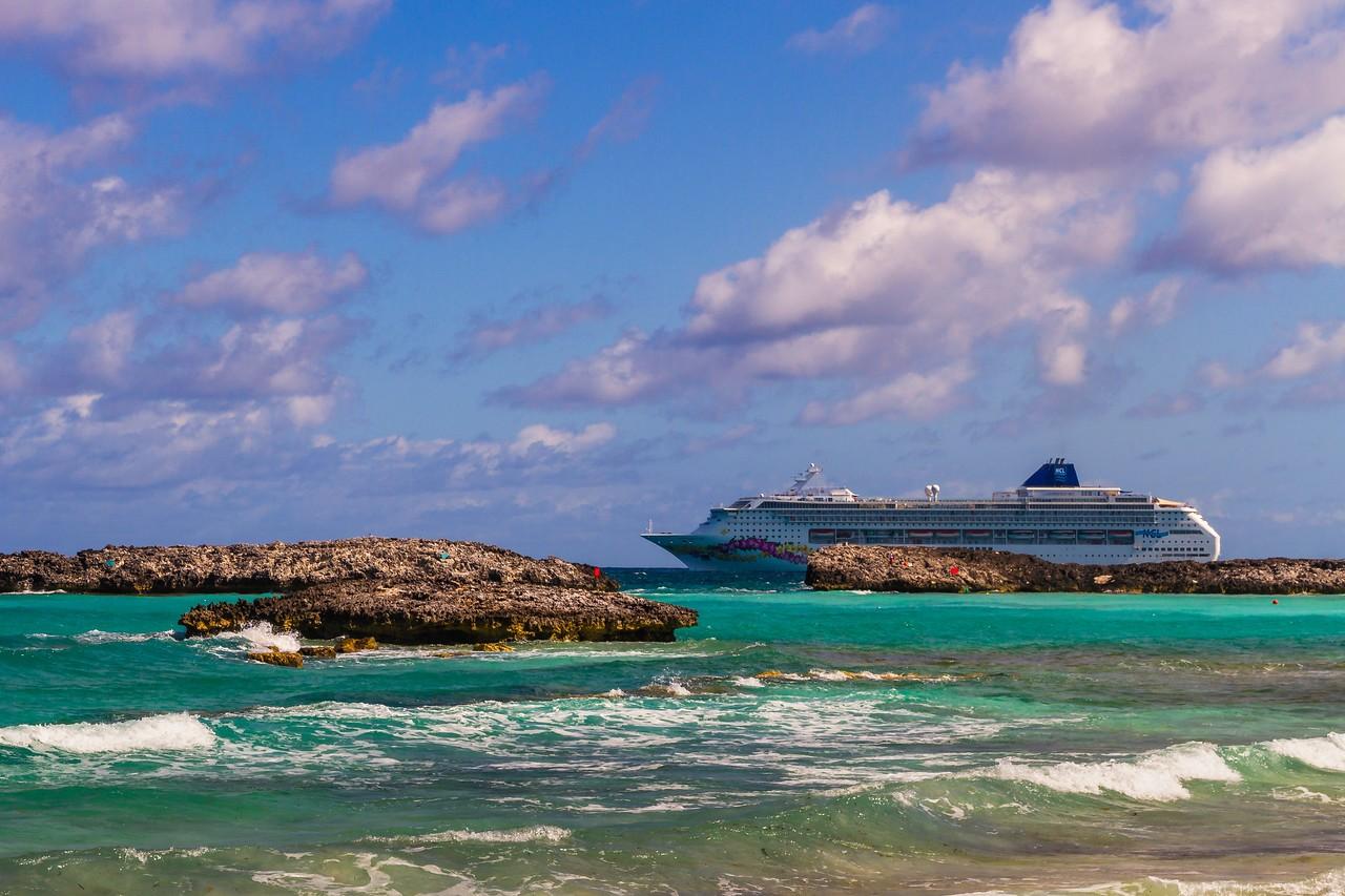 巴哈马大马镫礁(Great Stirrup Cay),海岛风景_图1-7