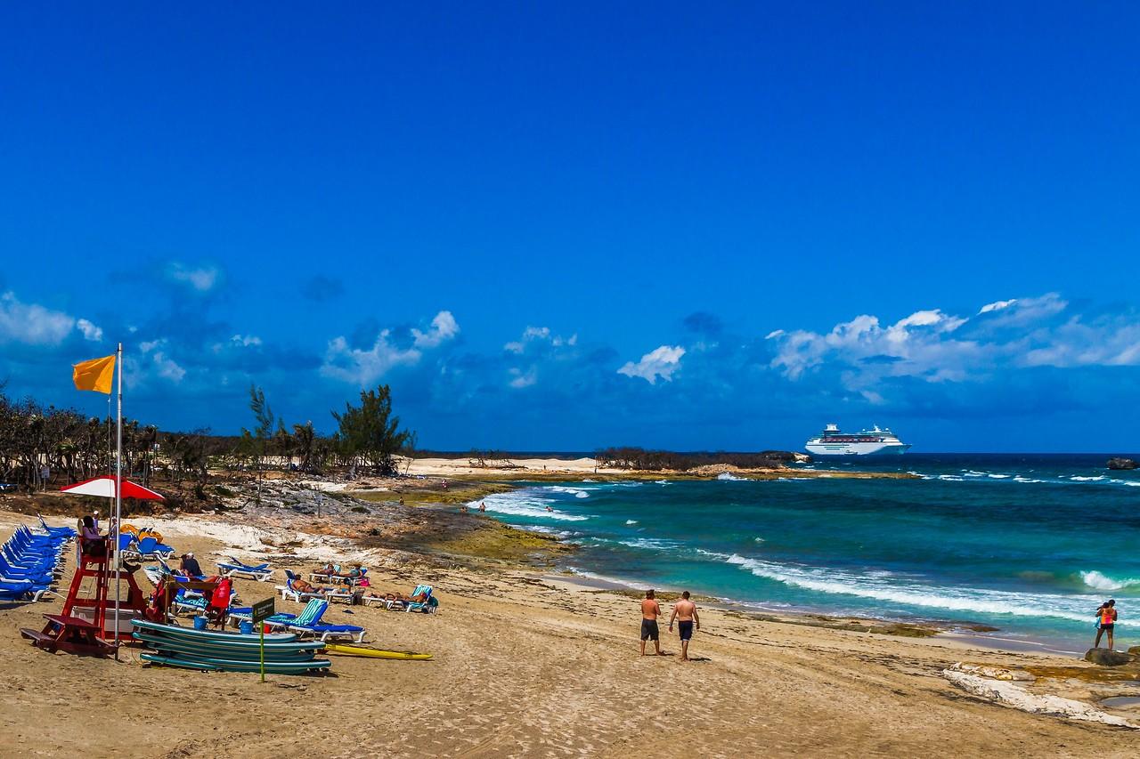 巴哈马大马镫礁(Great Stirrup Cay),海岛风景_图1-9