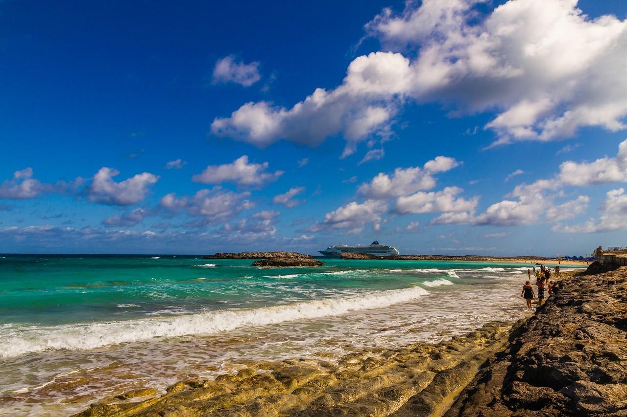 巴哈马大马镫礁(Great Stirrup Cay),海岛风景_图1-3
